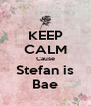 KEEP CALM Cause Stefan is Bae - Personalised Poster A4 size