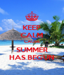 KEEP CALM CAUSE SUMMER HAS BEGUN - Personalised Poster A4 size