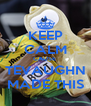 KEEP CALM CAUSE  TEVAUGHN MADE THIS - Personalised Poster A4 size