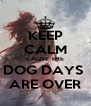 KEEP CALM CAUSE THE DOG DAYS  ARE OVER - Personalised Poster A4 size