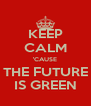 KEEP CALM 'CAUSE THE FUTURE IS GREEN - Personalised Poster A4 size
