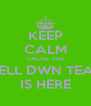 KEEP CALM CAUSE THE SHELL DWN TEAM  IS HERE - Personalised Poster A4 size