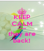 KEEP CALM cause they are back! - Personalised Poster A4 size