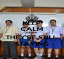 KEEP CALM CAUSE THEY'RE STILL STAYING - Personalised Poster A4 size