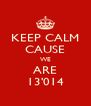KEEP CALM CAUSE WE ARE 13'014 - Personalised Poster A4 size