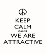 KEEP CALM CAUSE WE ARE ATTRACTIVE - Personalised Poster A4 size