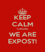 KEEP CALM CAUSE WE ARE EXPOST! - Personalised Poster A4 size