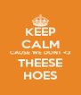 KEEP CALM CAUSE WE DONT <3 THEESE HOES - Personalised Poster A4 size