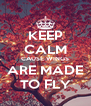 KEEP CALM CAUSE WINGS ARE MADE TO FLY - Personalised Poster A4 size