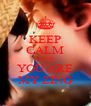 KEEP CALM CAUSE YOU ARE MY ZING - Personalised Poster A4 size