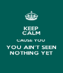 KEEP CALM CAUSE YOU  YOU AIN'T SEEN NOTHING YET - Personalised Poster A4 size