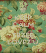 KEEP CALM CAUZ TBZEE LOVEZ U - Personalised Poster A4 size