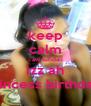 keep calm caw tuhdaii izz ah princess birthdaii  - Personalised Poster A4 size