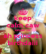 keep calm caw tuhdaii izz  ah princess birthdaiii - Personalised Poster A4 size