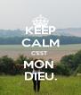 KEEP CALM C'EST  MON  DIEU. - Personalised Poster A4 size