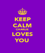 KEEP CALM CHARLIE LOVES YOU - Personalised Poster A4 size