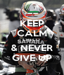 KEEP CALM CHECO  & NEVER GIVE UP - Personalised Poster A4 size