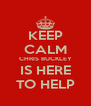 KEEP CALM CHRIS BUCKLEY IS HERE TO HELP - Personalised Poster A4 size