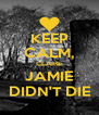KEEP CALM, CLAIRE JAMIE DIDN'T DIE - Personalised Poster A4 size