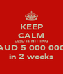 KEEP CALM CLSD is HITTING AUD 5 000 000 in 2 weeks - Personalised Poster A4 size
