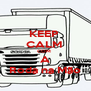 KEEP  CALM  COM  A Roda na Mão - Personalised Poster A4 size