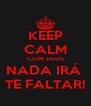 KEEP CALM COM DEUS NADA IRÁ  TE FALTAR! - Personalised Poster A4 size