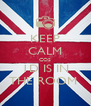 KEEP CALM COS 1D IS IN THE ROOM  - Personalised Poster A4 size