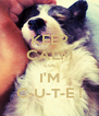 KEEP CALM cos I'M C-U-T-E ! - Personalised Poster A4 size