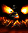 Keep Calm cos' it's nearly halloween - Personalised Poster A4 size