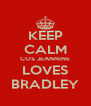 KEEP CALM COS JEANNINE LOVES BRADLEY - Personalised Poster A4 size