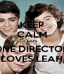 KEEP CALM COS ONE DIRECTON LOVES LEAH - Personalised Poster A4 size