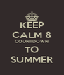 KEEP CALM & COUNTDOWN TO SUMMER - Personalised Poster A4 size