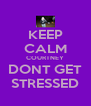 KEEP CALM COURTNEY DONT GET STRESSED - Personalised Poster A4 size