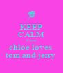 KEEP CALM Couse chloe loves  tom and jerry  - Personalised Poster A4 size