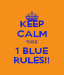 KEEP CALM 'COZ 1 BLUE RULES!! - Personalised Poster A4 size