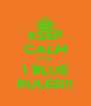 KEEP CALM COZ 1 BLUE RULES!!! - Personalised Poster A4 size