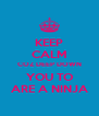 KEEP CALM COZ DEEP DOWN YOU TO ARE A NINJA - Personalised Poster A4 size