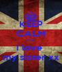 KEEP CALM coz i love  my sister xx - Personalised Poster A4 size