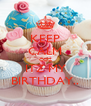 KEEP CALM COZ ITZ MY BIRTHDAY.. - Personalised Poster A4 size