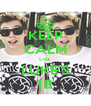 KEEP CALM coz  LUKE'S 18 - Personalised Poster A4 size