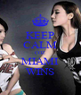 KEEP CALM COZ MIAMI WINS - Personalised Poster A4 size