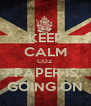 KEEP CALM COZ PAPER IS GOING ON - Personalised Poster A4 size