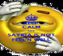 KEEP CALM COZ SAYIDA IS NOT FEEL'N WELL - Personalised Poster A4 size