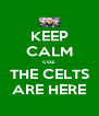 KEEP CALM coz THE CELTS ARE HERE - Personalised Poster A4 size