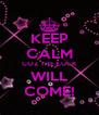 KEEP CALM COZ THE LUCK WILL COME! - Personalised Poster A4 size