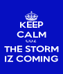 KEEP CALM COZ  THE STORM IZ COMING - Personalised Poster A4 size