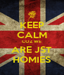 KEEP CALM COZ WE ARE JST HOMIES - Personalised Poster A4 size