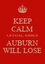 KEEP CALM CRYSTAL, JOSHUA AUBURN WILL LOSE - Personalised Poster A4 size