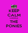 KEEP CALM CUDDLE THE PONIES - Personalised Poster A4 size
