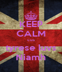 KEEP CALM cus tyrese luvs Niamh - Personalised Poster A4 size